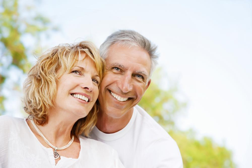 Couple Smiling | Dentures Wellington FL
